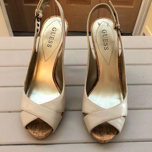 Guess Size 8 Peep Toe Heels